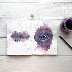 For the last several days a vision of this sketchy abstract eye keeps coming to me. I was attributing it to the things I see and the art I… Art Journal Pages, Bullet Journal Art, Bullet Journal Ideas Pages, Bullet Journal Inspiration, Art Journal Backgrounds, Witch Art, Book Of Shadows, Art Plastique, Creative Art