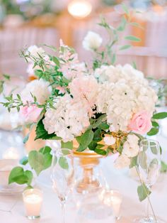 Pine Lakes Country Club #PalomaBlanca #PalomaBlancaBride #realbride #weddingdress #weddinggown #weddinginspiration #SouthCarolina #MyrtleBeach #southernwedding #flowers #centerpiece #hydrangeras #pink #gold #wedding