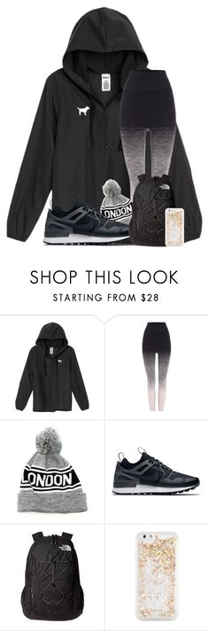 """smoothie recipes in description"" by madiweeksss ❤ liked on Polyvore featuring Victoria's Secret, Pepper & Mayne, NIKE, The North Face and ban.do"