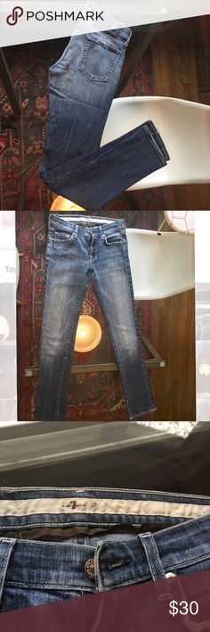 7 for all Mankind distressed skinny jean Sz 25 7 for all Mankind skinny jean great condition, great everyday skinny jeans 👖 7 For All Mankind Jeans Skinny