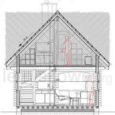 Drewniany domek letniskowy Alicja 62 + 18 m2 Floor Plans, Balcony, Floor Plan Drawing, House Floor Plans