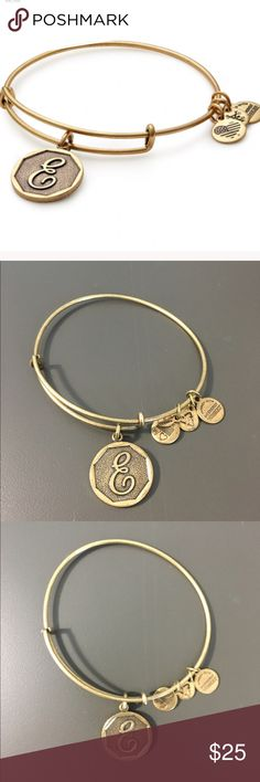 Alex and And charm bracelet Worn a few times but still in Great condition. Letter E charm. Alex & Ani Jewelry Bracelets