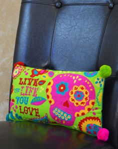 Paige Sugar Skull Pillow