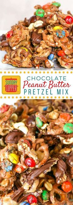 The perfect mix of sweet and salty, this chocolate peanut butter pretzel mix is created right in the pretzel bag. What could be easier? #SundaySupper Peanut Butter Pretzel, Peanut Butter Recipes, Chocolate Peanut Butter, Chocolate Mix, Pretzels Recipe, Chocolate Peanuts, Chocolate Truffles, Chocolate Ganache, Sweets