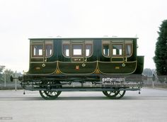 Queen Adelaide's Coach No 2, 1842. This royal carriage, the first royal saloon, was built for Queen Adelaide, (1792-1849), the widow of William IV of England (reigned 1830-1837), by the London and Birmingham Railway. The design was based on three stagecoach compartments, and was built to the highest standards of the time. The interior was beautifully furnished and upholstered by craftsmen. It is thought that during the daytime the queen travelled in the end (coupe) compartment, with her…