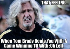 Rob Ryan's Face!  Ha! Ha!  After Tom Brady and his Patriots beat the New Orleans Saints (and a Ryan brother)!