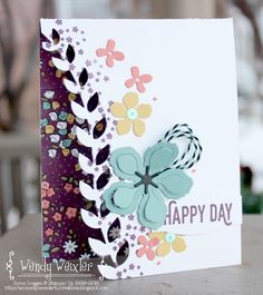 by Wendy: Perfect Pairings set & Wildflower Fields dsp (both SAB), Botanical Blooms, Botanical Builder framelits, & more - all from Stampin' Up!