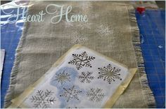 Stenciled Pillows & Table Runner - All Things Heart and Home