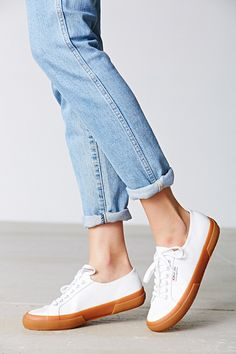 Superga 2750 Leather Gum-Sole Low-Top Sneaker - Urban Outfitters