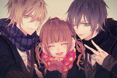 anime boys and anime girl