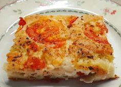 ΚΑΤΑΠΛΗΚΤΙΚΗ ΤΥΡΟΠΙΤΑ ΜΕ ΚΟΥΡΚΟΥΤΙ, ΝΤΟΜΑΤΑ ΚΑΙ ΠΙΠΕΡΙΑ Lasagna, Quiche, Feta, Macaroni And Cheese, Pizza, Snacks, Breakfast, Ethnic Recipes, Lasagne