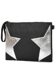 Chic Star Faux Leather Clutch Bag