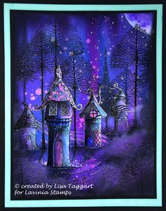 Fairy grove Fairy grove Fairy grove – Inkybliss creations<br> It's monthly challenge time again at Lavinia stamps. With the very tempting theme of pinks purples and blues. You could be the lucky winner of of LS vouchers! For my inspiration with th… Fantasy Magic, Fantasy Art, Magic Art, Lavinia Stamps Cards, Enchanted, Fairy Paintings, Pen And Watercolor, Wow Art, Fairy Art