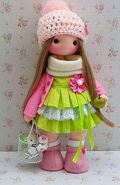 Baby Patterns, Doll Patterns, Kawaii Doll, Plushies, Art Dolls, Doll Clothes, Harajuku, Crochet Hats, Crafts