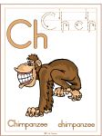 Letter Digraph Ch Chimpanzee Theme | Preschool Lesson Plan Printable Activities and Worksheets