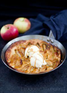 Hävikkiruokia - Tarte tatin pannukakku nuhjaantuneista omenoista
