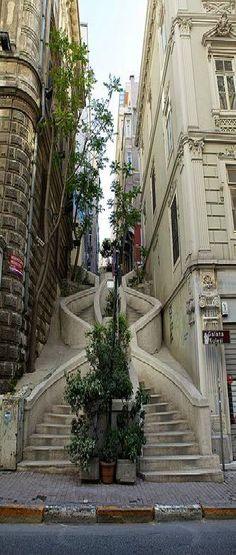 Follow me ~ Camondo Stairs, Galata District / Istanbul