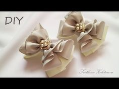 Новые Бантики из репсовых лент DIY Ribbon bows - YouTube Ribbon Hair Bows, Diy Hair Bows, Diy Bow, Diy Ribbon, Cute Diy Hair Accessories, Hair Bow Tutorial, Boutique Hair Bows, How To Make Bows, Fabric Flowers