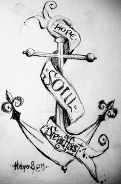 Cross And Anchor Tattoo Arm Tattoos, Cross Tattoos, Tatting, Body Art, Ink, Anchor, Journal, Drawing Drawing, Bobbin Lace