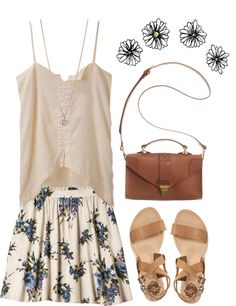 """Beige Day"" by vv0lf ❤ liked on Polyvore"
