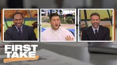 Tim Tebow tells Stephen A. Smith to calm down during college football preview | First Take | ESPN