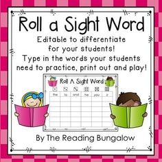 This simple and fun game will have your students reading and writing sight words in no time! Students roll a die, read the sight word, and then write the sight word in the box below the word.  The game continues until one sight word column is filled or until the entire board is filled.