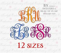 If you do not have embroidery editing software to combine the individual letters into a monogram, no problem. Included in the instant download are instructions on how to download free, easy-to-use editing software.