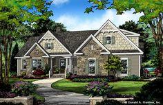 Home Plan 1414 - front rendering