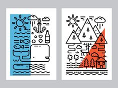 Some line illos made in 2015 and '16