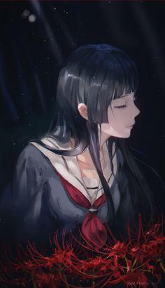 Jigoku shoujo - Enma Ai by on pixiv Manga Anime, All Anime, Manga Girl, Anime Girls, Enma Ai, Kuvshinov Ilya, Hell Girl, Anime Artwork, Cosplay