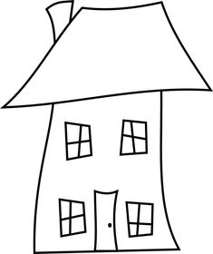 Here are Three Crooked House Digital Stamps (Perfect for Housewarming) House Quilt Patterns, House Quilt Block, House Quilts, Fabric Houses, Applique Patterns, Quilt Blocks, Applique Templates, Felt Crafts, Fabric Crafts