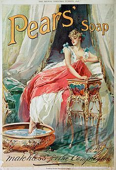 Pear's Soap Advertisement: Woman Bathing 1898 Nostalgia