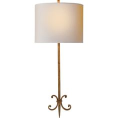 Visual Comfort Suzanne Kasler Roswell Sconce in Gilded Iron with Natural Paper Shade SK2009GI-NP