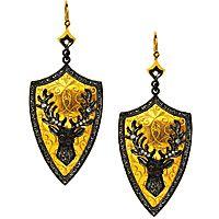 JCK Asks…Arman Sarkisyan (22k gold, silver and diamond earrings)