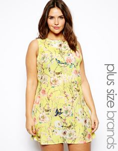 Truly You Floral Print Shift Dress http://asos.to/1gSs5hD