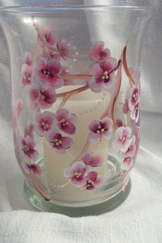 Cherry Blossom Centerpiece. Perfect for a wedding, Spring Table Décor or an Anniversary Centerpiece. Also on Etsy.