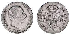50 CENTS / 50 CENTAVOS PESO. Ag. ALFONSO XII. PHILIPPINES-FILIPINAS 1883. VF/MBC