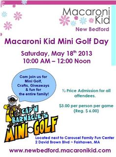 Carousel Family Fun Center & Cap'n Barnacle's Mini Golf Fairhaven MA