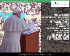 #PapaFrancisco #PapaFranciscoEnMéxico #PapaEnMex #RegnumChristi #PapaEnCHPS #TrabajoDigno #Estudio