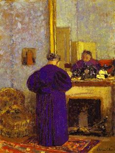 Old Woman in front of the Fireplace  1895  by Édouard Vuillard