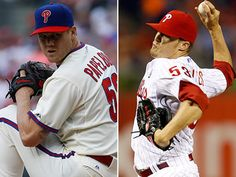 Jonathan Papelbon (left) and Ken Giles (right). (Staff and AP Photos)