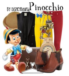 """""""Pinocchio"""" by leslieakay ❤ liked on Polyvore featuring DL1961 Premium Denim, Chloé, Pinko, WeWood, Disney Couture, Disney, Frye, women's clothing, women and female"""