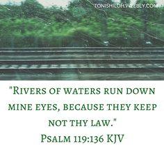 Psalm 119:136 KJV