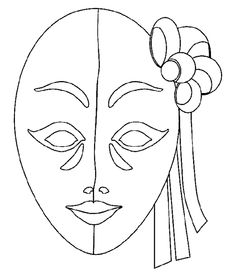 Masquerade mask pattern. Use the printable outline for