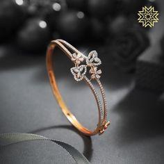 3 Brands To Shop Exceptional Diamond Bangle Designs! Gold Chain Design, Gold Ring Designs, Gold Bangles Design, Gold Earrings Designs, Gold Jewellery Design, Antique Jewellery, Bracelet Designs, Real Diamond Earrings, Diamond Bracelets