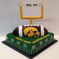 Iowa Hawkeyes Football cake