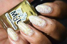 Delicate Stamping - Stamping Saturdays #10  #nails #naturalnails #almondnails #nailart #naildesigns #stamping #stampingnailart #stampingsaturdays #crelly #white #pink #yellow #purple #gold #glitter #colorsbyllarowe #cbl #mundodeunas #mdu #bundlemonster #bornprettystore #bps #notd #nailpolish #nailpolishaddict #nailpolishlover #nailswag #nailsoftheday #nailartaddict #nailartlover #nailpolishblogger #beautyblogger Us Nails, Swag Nails, Purple Gold, Pink Yellow, Bundle Monster, Born Pretty Store, Stamping Nail Art, Almond Nails, Natural Nails