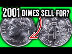 These are 2001 Dimes worth more than face value. We look at Roosevelt dimes worth money and other rare coins to look for. For more valuable coin tips give th. Old Coins Worth Money, Coin Dealers, Money Notes, Valuable Coins, American Coins, Coin Worth, Error Coins, Coin Values, Show Me The Money