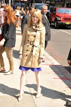 Emma Stone - Burberry trench coat