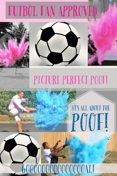 Soccer Ball Gender Reveal Poof There It Is Baseball Softball